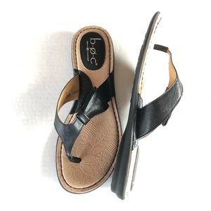 boc Shoes - b. o. c leather flip flops